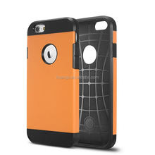 High quality rugged hard robot back cover colorful pc+silicone case for iphone 6 g china price
