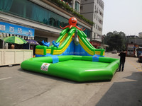 Octopus water park, inflatable water park pool slide, Small inflatable octopus water park
