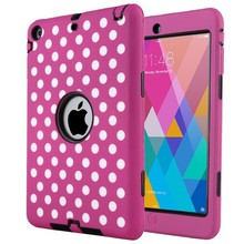 3 in 1 Shockproof Hybrid Silicon and PC Case For Apple iPad Mini 3 2 1 Cover