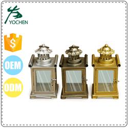wholesale metal house hang lantern candle holder, wedding candle holder home decor