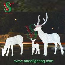 New product lighted Santa Claus reindeer led Christmas Decoration Wedding Decoration