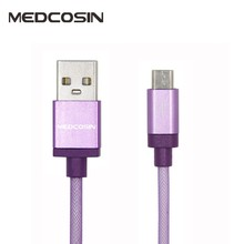 Medcosin Skynet Colorful Nylon + Aluminum 2.1A 1.0m Micro USB Data Cable for Samsung