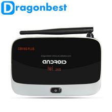 hottest android 4.4 google tv box amlogic s805 quad core 1g/8g 4k*2k h.265 android tv box cs918g plus