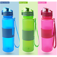 Holiday Gift folding water silicone bottle Silicon Foldable sports bottle