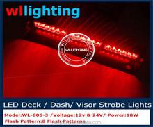 visor strobe light Blue /Led Visor Light Red/Emergency windscreen visor light 3W Led