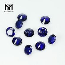 Loose Top Quality Synthetic Ruby 34# Sapphire Blue Corundum Gemstone