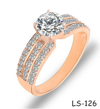 2015 popular ring AAA zircon fine with real gold plating zircon ring