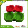 New arrived cat shape silicone pet bowl