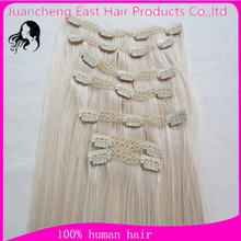 Hot sale clip in human hair extensions 8pieces 8-30inch 100% virgin one pieces clip in hair extensions