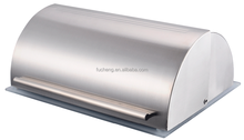 new design glass and stainless steel lunch bread bin box