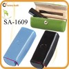 high quality colorfully leather lipstick case with mirror for makeup