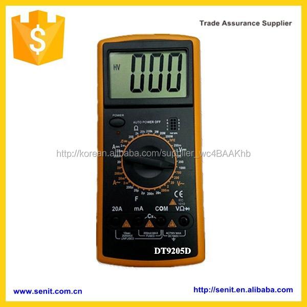 대형 LCD 화면 디지털 멀티 미터 옴 미터 전류계 hfe 시험기 dt9205a 엑셀