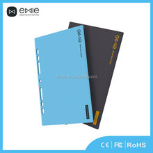 Fashion ultra slim designed Emie real capacity 8000mah powerbank for binder notebook