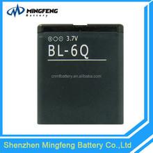 Original quality factory price BL-6Q battery for Nokia 6700c phone
