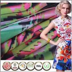 Hot selling IAF certified Neoprene Rose printed fabric