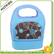 Fashion Online Shop Dual Compartments Lunch Bag