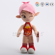 China plush doll factory exporting children dolls