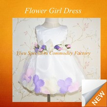 white with Flower birthdays girls puffy dresses for kids princess wedding dresses CLBD-532