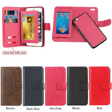 PC Detachable Wallet Card Slots For iPhone 6 Leather Case,For iPhone 6 Leather Case Cover