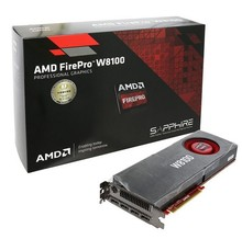 AMD FirePro W8100 8gb 512 bit ECC GDDR5 PCIe 3.0 x16 displayport 3D design graphic card packaging boxes