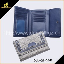 Rivet Wholesale PU Leather Purse For Purse With Inside Coin Wallet