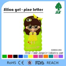 The hot sale!!! cartoon design 2015 mobile phone case,cell phone silicon cover for iphone 5/5s