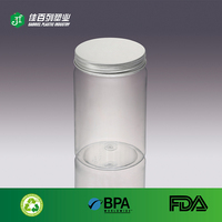 round shape high quality empty 750ml clear plastic bottle