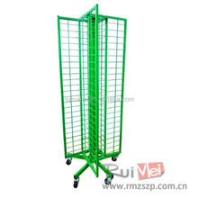 4 Side Metal Grid Mesh Rotating Display Stand