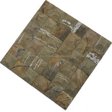 Free style natural wall tile decoration 5 facet marble mosaic art