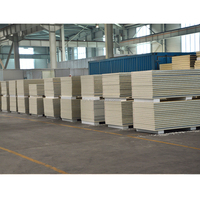 High quality Polyurethane Rigid Foam Color Steel Insulated PU sandwich panel for Industrial Building Wall and Roof