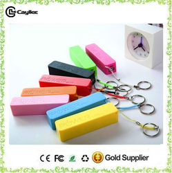 2015 hot new products Made in China wholesale 2000mah to 2600mah Perfume portable power bank with keychain