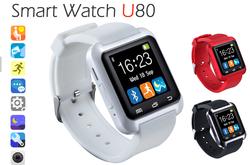 Fashion Smartwatch U80 latest wrist watch mobile phone for samsung phone