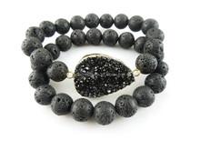 CH-LST0428 Natural persian bracelet lava beaded,lava stone bracelet,fashion gem lava stone bracelet