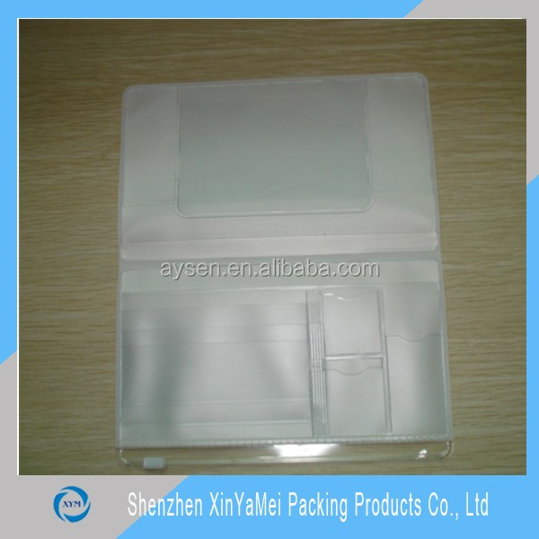 Ясно водонепроницаемый мягкий пластик имя удар вертикальная знак id card holder