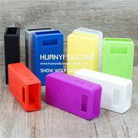 19 colors silicone snowwolf case/skin/sticker/cover/sleeve/wrap/decal snow wolf rubber 1:1 clone 200w box mod 50w uk watt