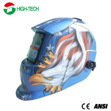 China Factory Price CE ANSI Blue Hawk Welding Helmet Decals Custom Solar Powered Auto Darkening Welding Helmet EN379
