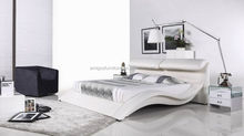 bed room soft leather double bed furniture set on sale
