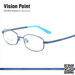 China wholesale latest fashion designer colorful kids full rim memory metal optical eyeglasses frames with pattern temple