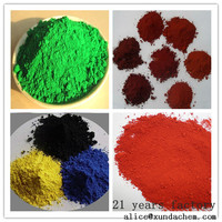 synthetic color paint Iron Oxide Red/Yellow / Black 330 for wood mulch From China