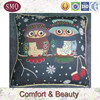 China manufacturer owl pattern tapestry knitted cushion covers wholesale