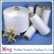 China supplier, virgin polyester spun yarn paper Cone yarn used for sewing wedding dress and sock knitting