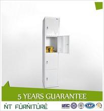 4 Compartment Steel Lockers/4 door clothing steel locker/4 vertical steel locker