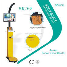 SK-V9 (Weight Height Fat BMI) Arabic Blood Monitor With Coin Acceptor