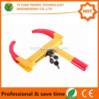 Auto Anti-Theft Red And Yellow Truck Steering Wheel Lock