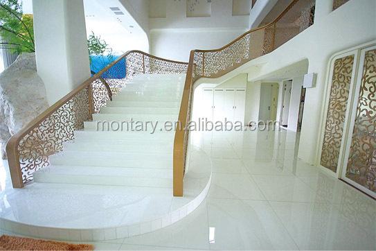 Pure White Artificial Marble Flooring Design