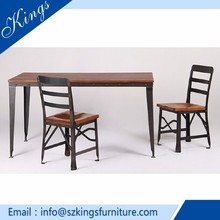 New Design Modern Style Restaurant Metal Chair Cast Iron Table And Chair