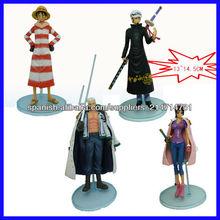 (Acepte paypal) 13-14.5cm de una pieza japonesa de dibujos animados figuras proveedor maqueta animado