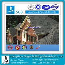 Double Layer Asphalt Roofing Shingles Laminated Bitumen Shingles Roof Factory