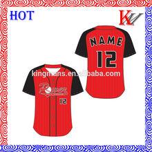 el más reciente 2014 transpirable estilo personalizado sublimación diseño de uniformes de béisbol