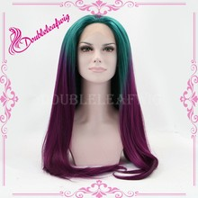 Qingdao wig factory ombre purple japanese hot cosplay wig fashion japanese party wig